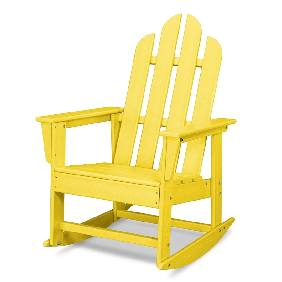 Shop POLYWOOD Long Island Lemon Plastic Rocking Chair At - Lowe's Rocking Chairs
