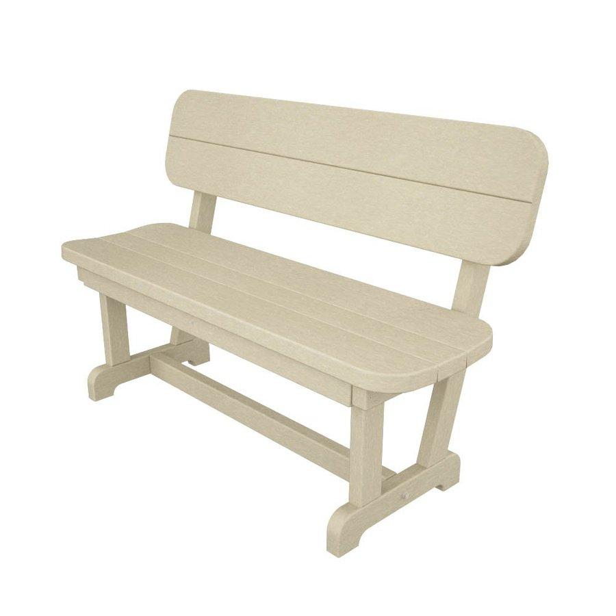 sand plastic patio bench