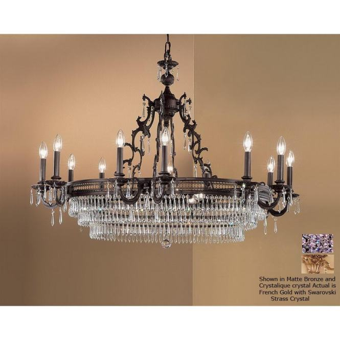 Classic Lighting Renaissance 18 Light French Gold Crystal Accent Chandelier