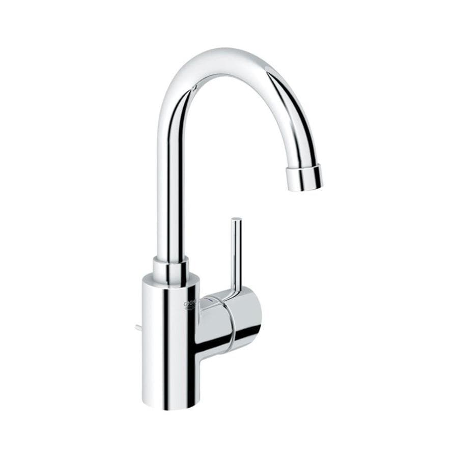 grohe concetto starlight chrome 1 handle single hole watersense bathroom sink faucet with drain