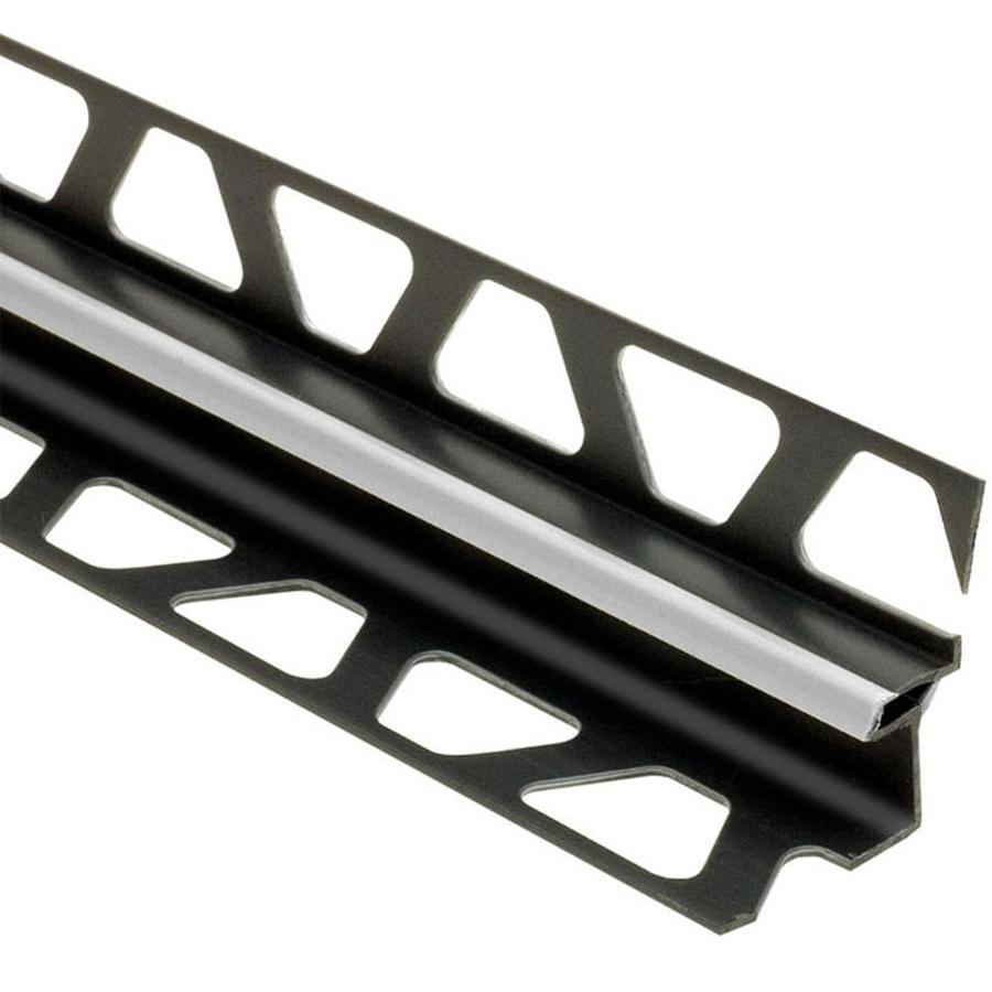 schluter systems dilex eke 0 375 in w x 98 5 in l classic grey pvc corner movement joint tile edge trim