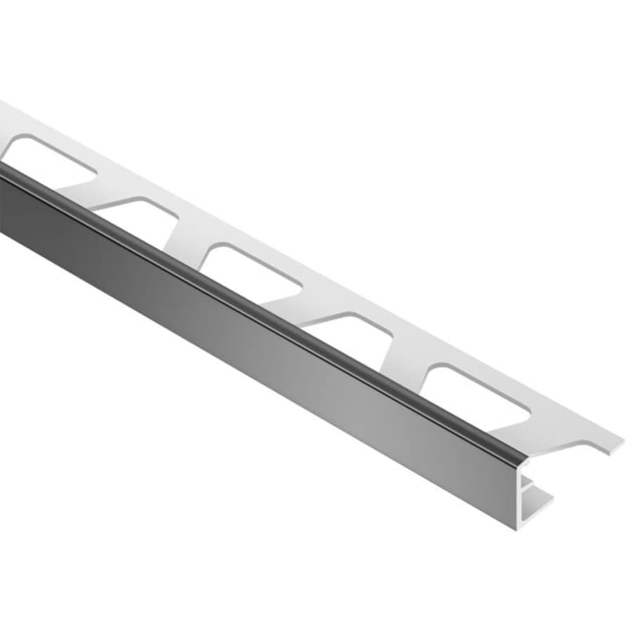 schluter systems jolly 0 313 in w x 98 5 in l black pvc l angle tile edge trim