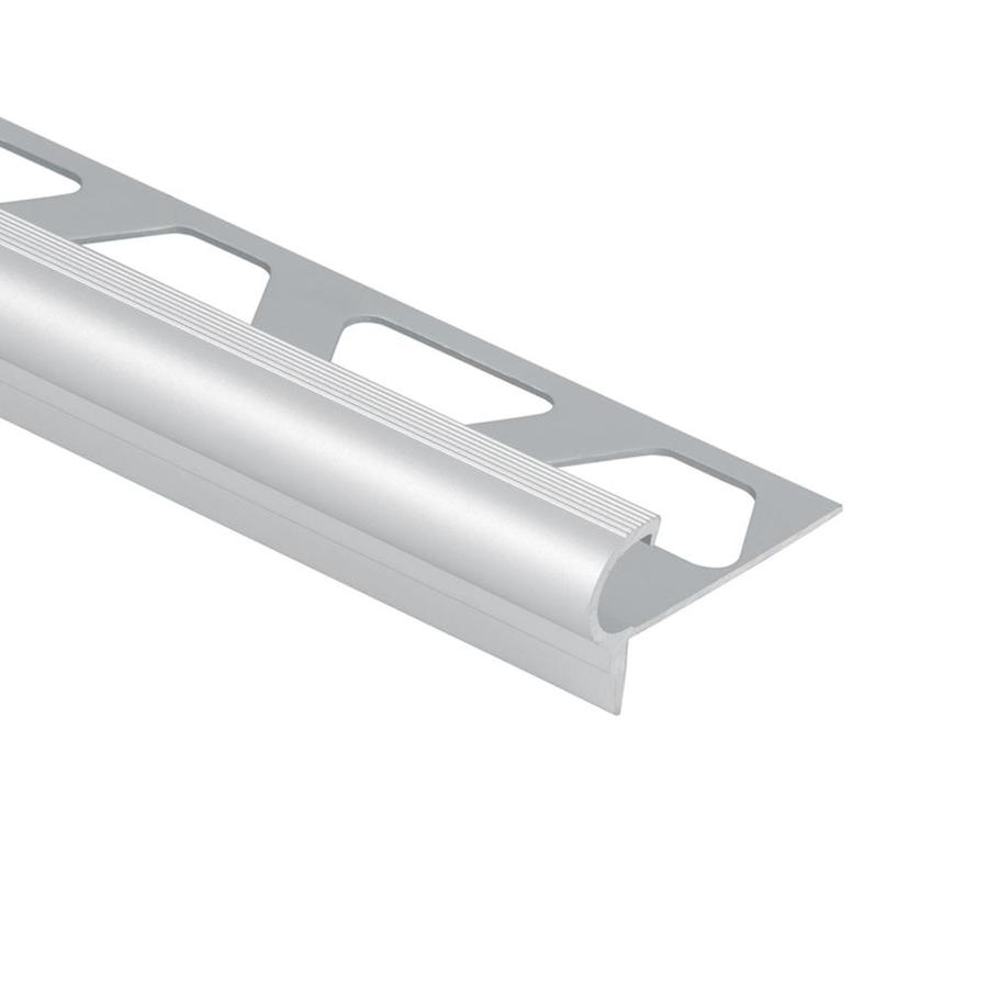 schluter systems trep fl 0 344 in w x 98 5 in l satin anodized aluminum stair nose tile edge trim