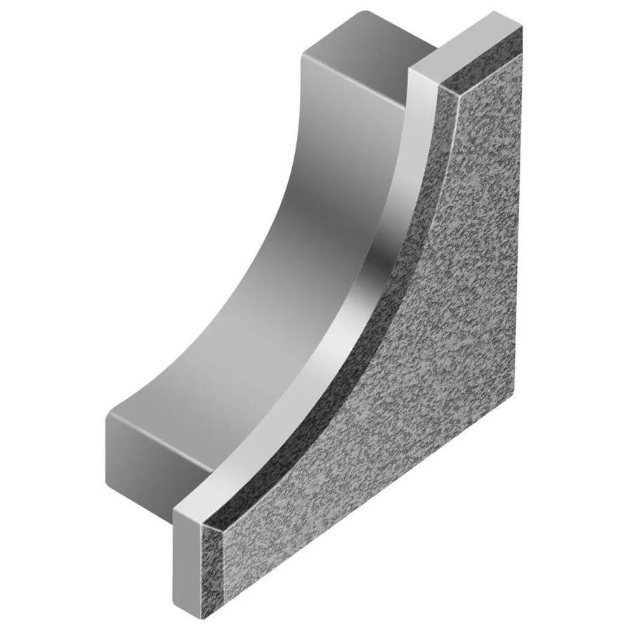 schluter systems dilex ahk 0 563 in w x 0 5 in l pewter aluminum end caps tile edge trim