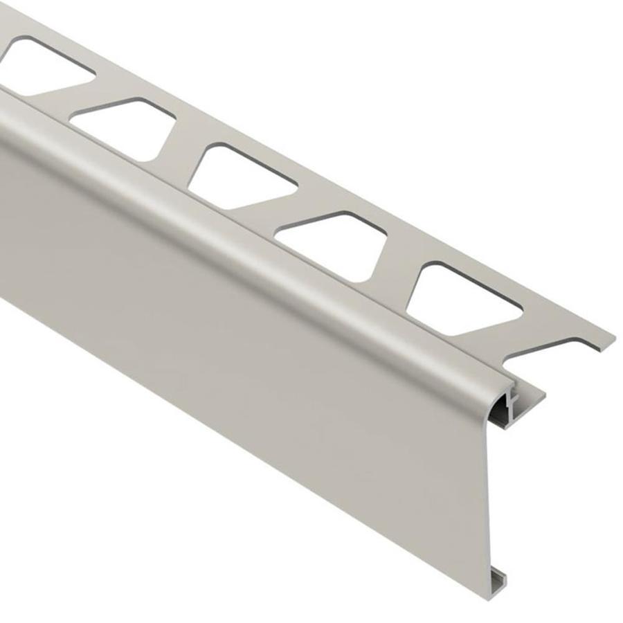 schluter systems rondec step 0 313 in w x 98 5 in l satin nickel aluminum step tile edge trim