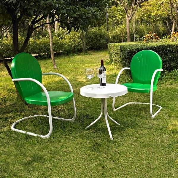 Shop Crosley Furniture Griffith 3 Piece Steel Frame Patio     Crosley Furniture Griffith 3 Piece Steel Frame Patio Conversation Set