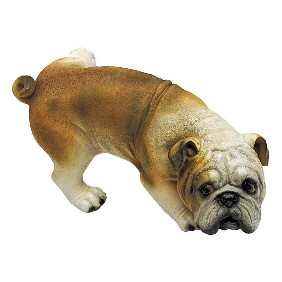 Design Toscano Good Dog Gone Bad Peeing Bulldog 7 In