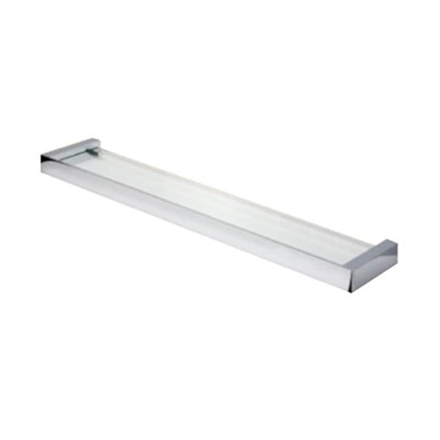 shop nameeks nexx chrome plastic bathroom shelf at lowes