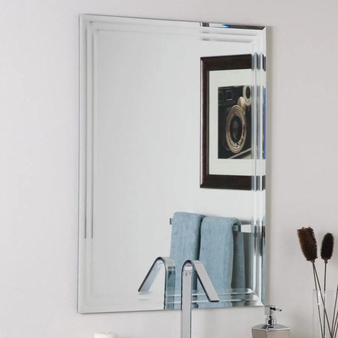 Decor Wonderland Ssm84m Beveled Bathroom Mirror