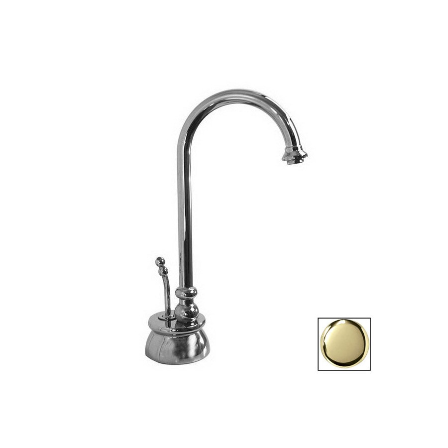 westbrass instant hot calorah unlacquered polished brass 1 handle high arc kitchen faucet in the kitchen faucets department at lowes com
