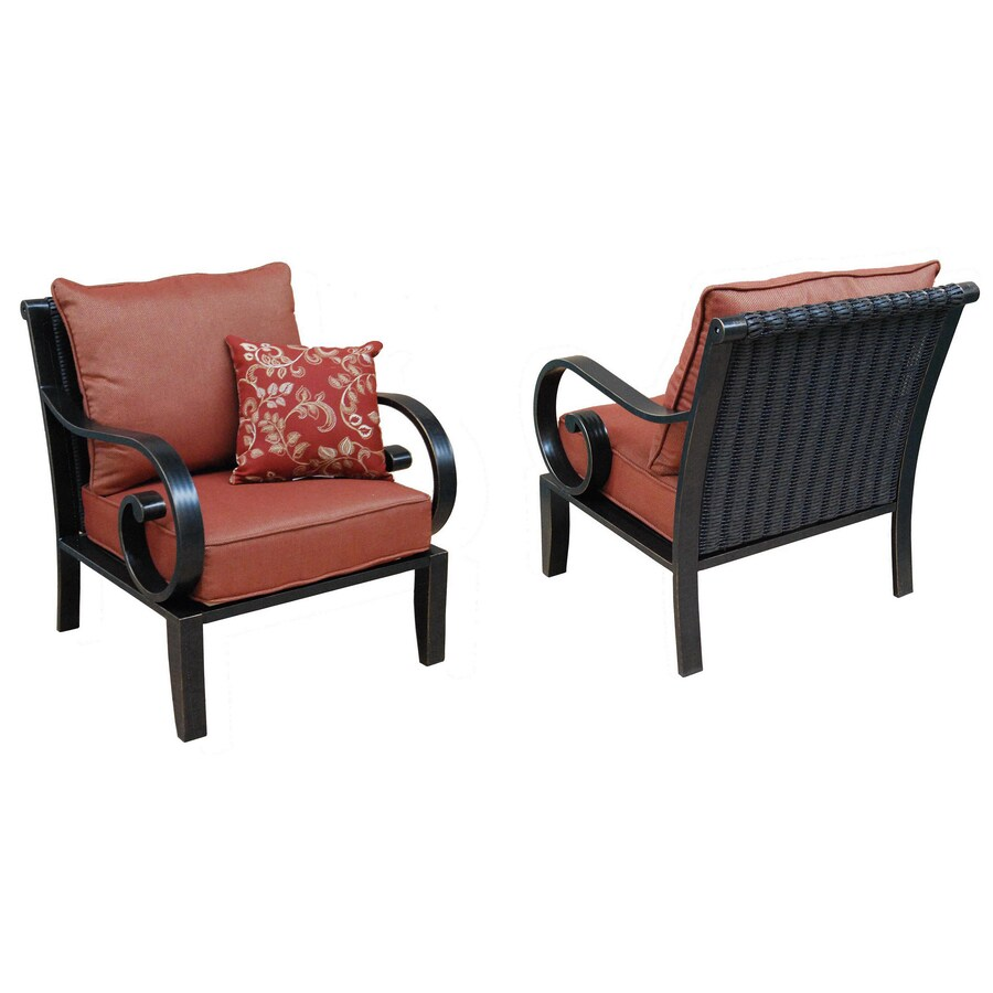allen roth pardini 2 count oil bronze aluminum patio conversation chairs