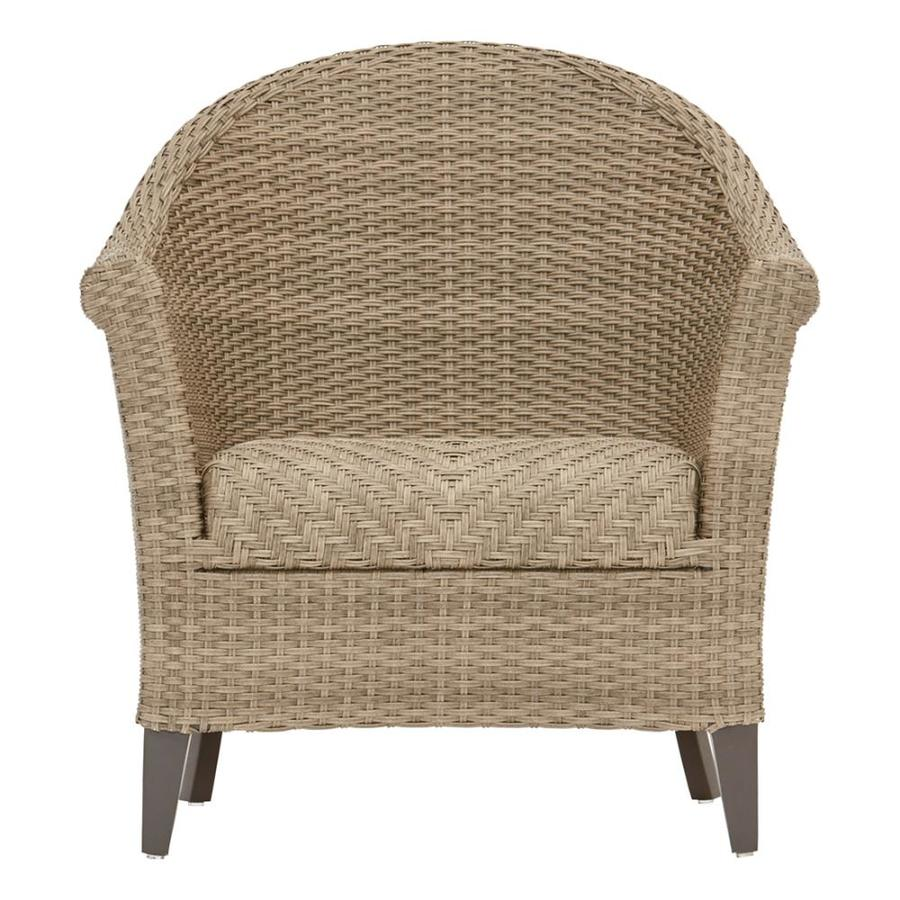 allen roth caledon set of 2 woven brown metal frame stationary conversation chair s with woven seat