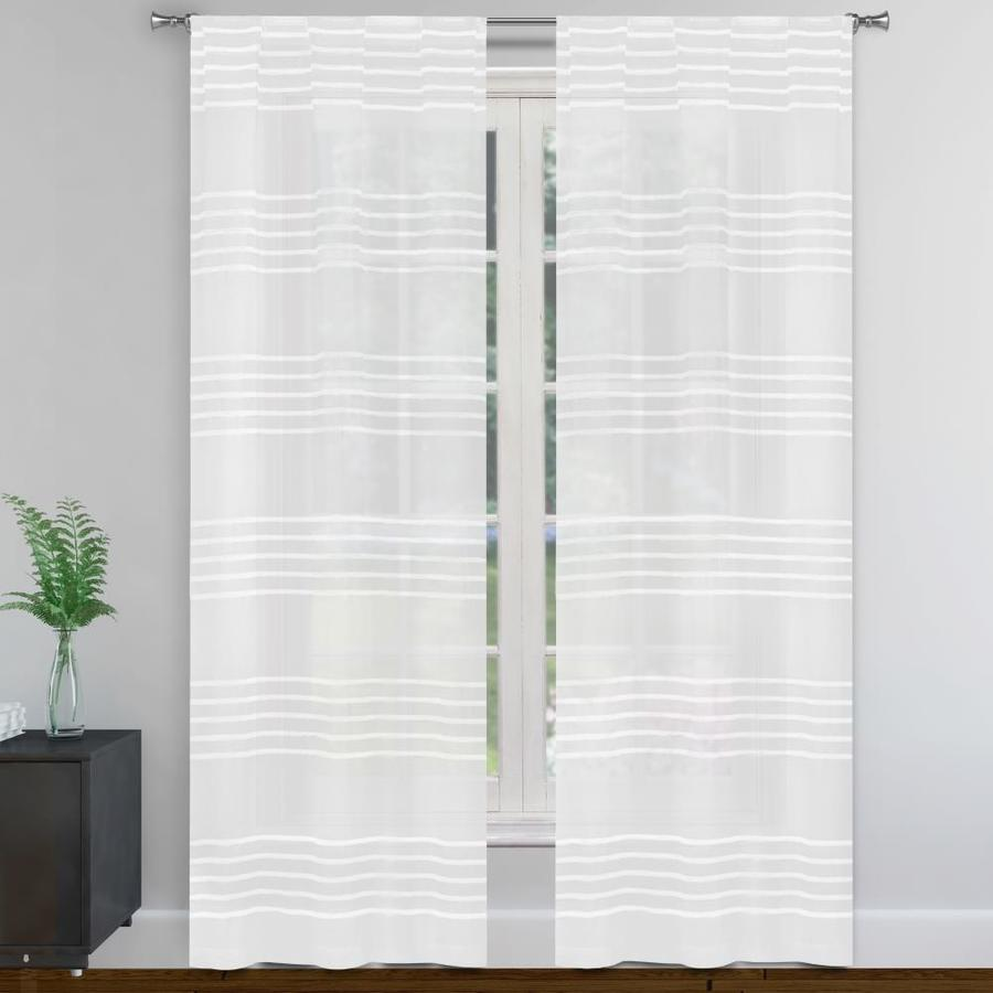 duck river textile 96 in white white polyester semi sheer standard lined rod pocket curtain panel pair