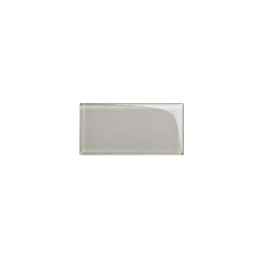 giorbello 3x6 glass subway tiles light gray 3 in x 6 in glossy glass brick subway wall tile sample lowes com