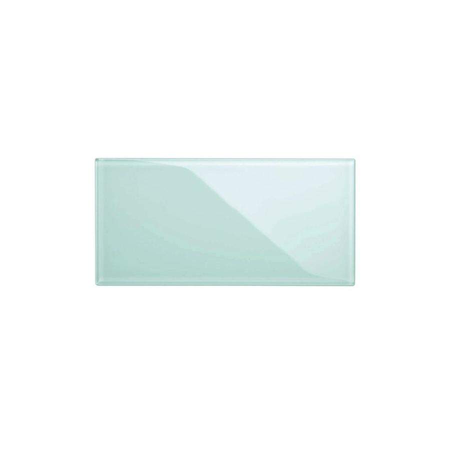 giorbello 6x12 glass subway tiles baby blue 3 in x 6 in glossy glass brick subway wall tile sample