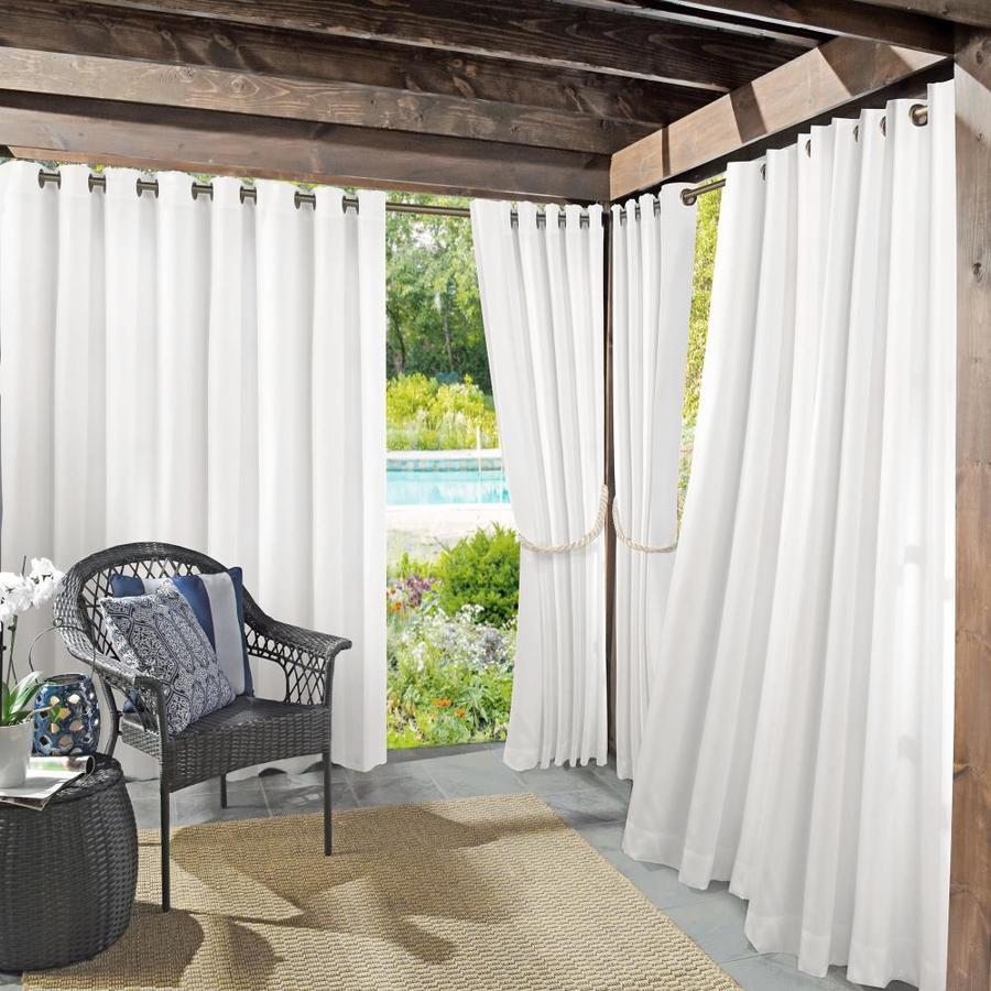 sun zero 108 in white polyester room darkening interlined grommet single curtain panel in the curtains drapes department at lowes com