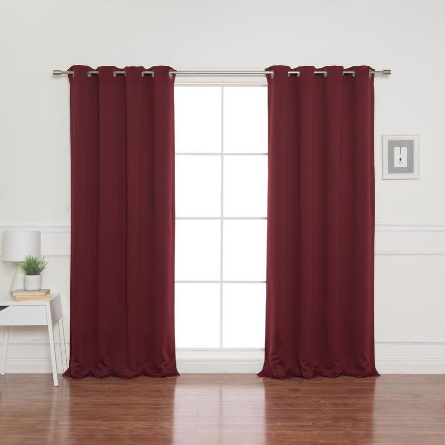 best home fashion 72 in burgundy polyester blackout grommet curtain panel pair