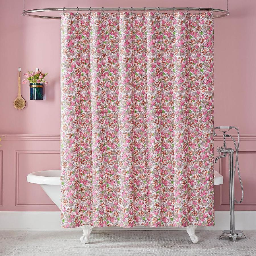 pink shower curtains liners at lowes com