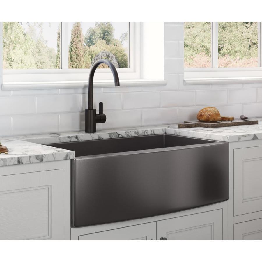 Black Kitchen Sink Undermount Novocom Top