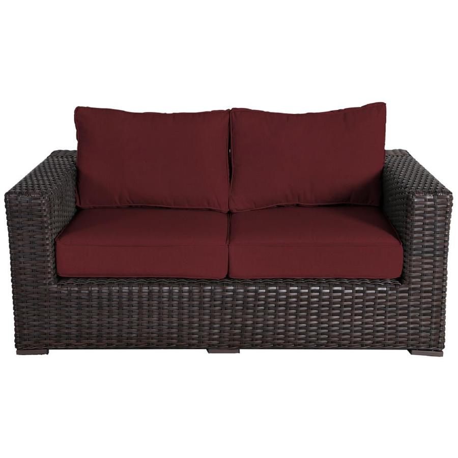 wicker outdoor loveseat with cushion s
