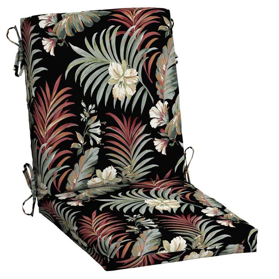 arden selections black simone tropical high back patio chair cushion