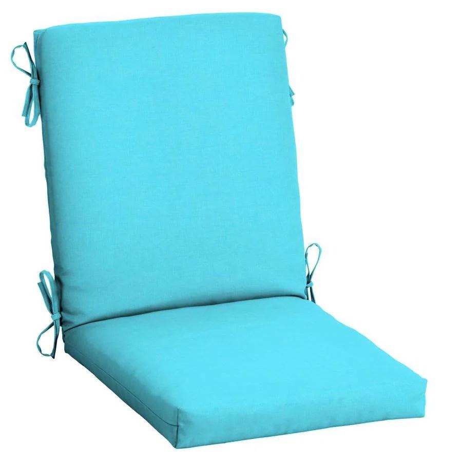 arden selections pool blue leala texture high back patio chair cushion