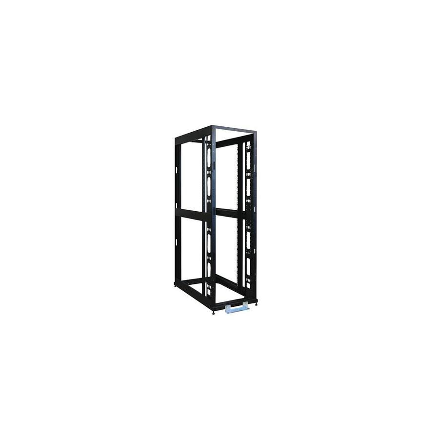 interex by tripp lite tripp lite trl sr48ubexpndn 48u 4 post open frame rack server cabinet with heavy duty casters black in the endless aisle department at lowes com