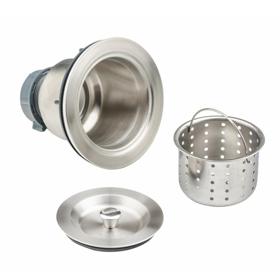 empava empava 3 5 in kitchen sink drain assembly in stainless steel basket strainer and cover included