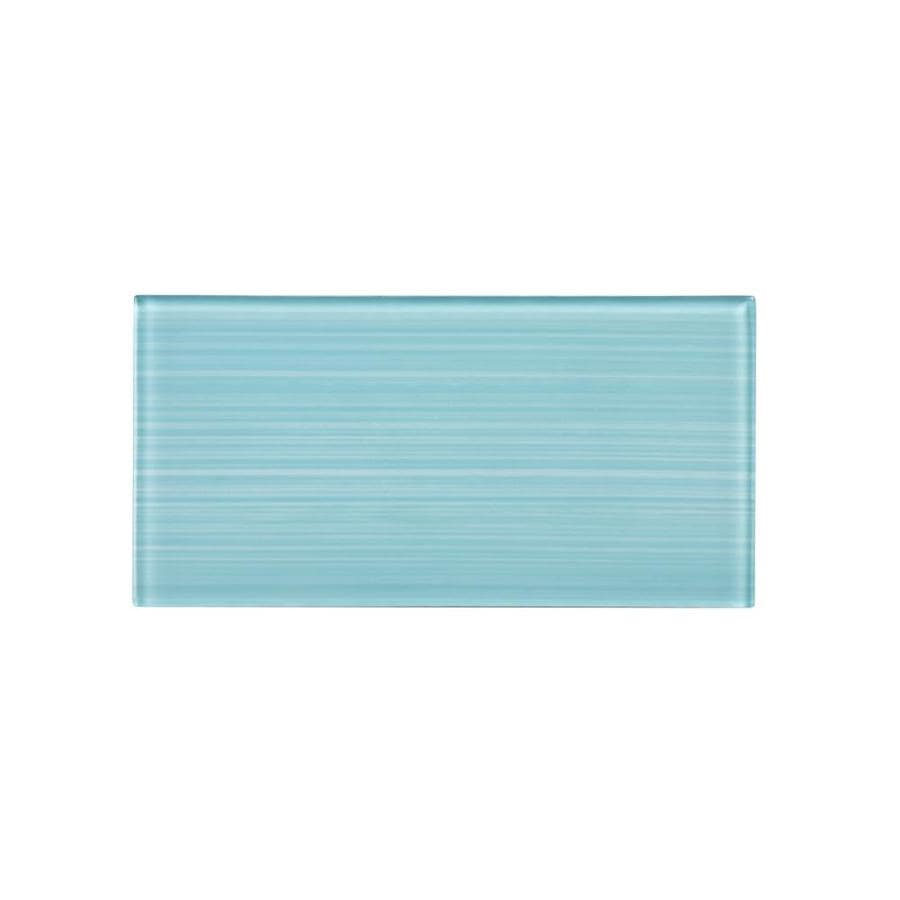 ws tiles peel and stick series 64 pack aqua blue 3 in x 6 in hand painted glass peel and stick wall tile