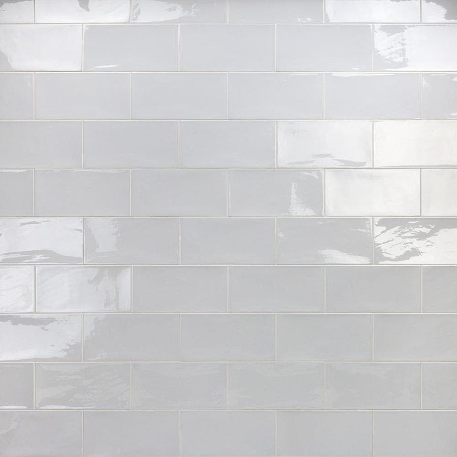 artmore tile antigua 30 pack gray 5 in x 10 in polished ceramic subway wall tile