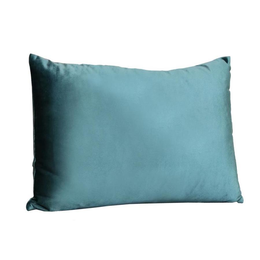 homeroots solid teal rectangular lumbar pillow