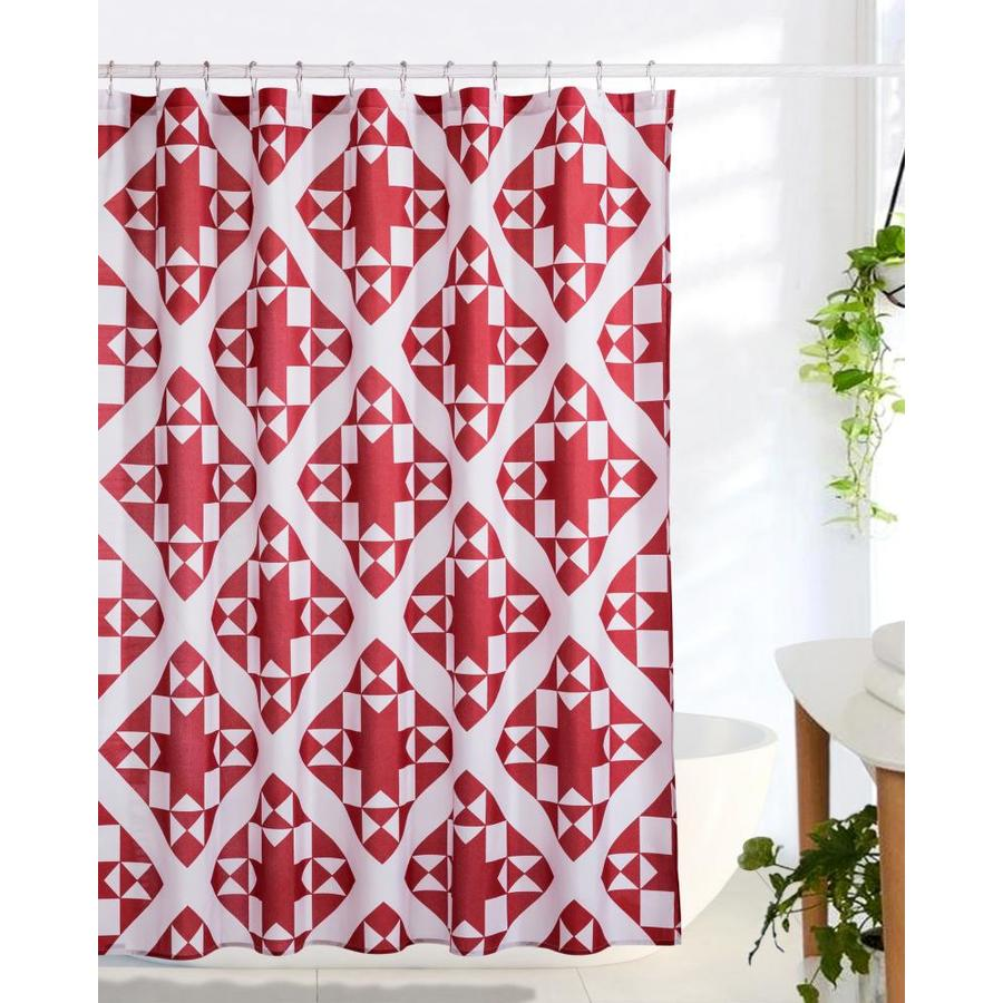 red shower curtains liners at lowes com