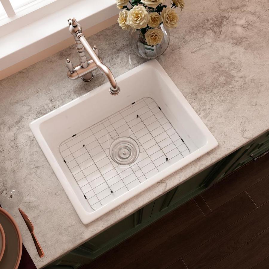 eridanus rio farmhouse apron front 23 62 in x 18 5 in white single bowl 1 hole kitchen sink