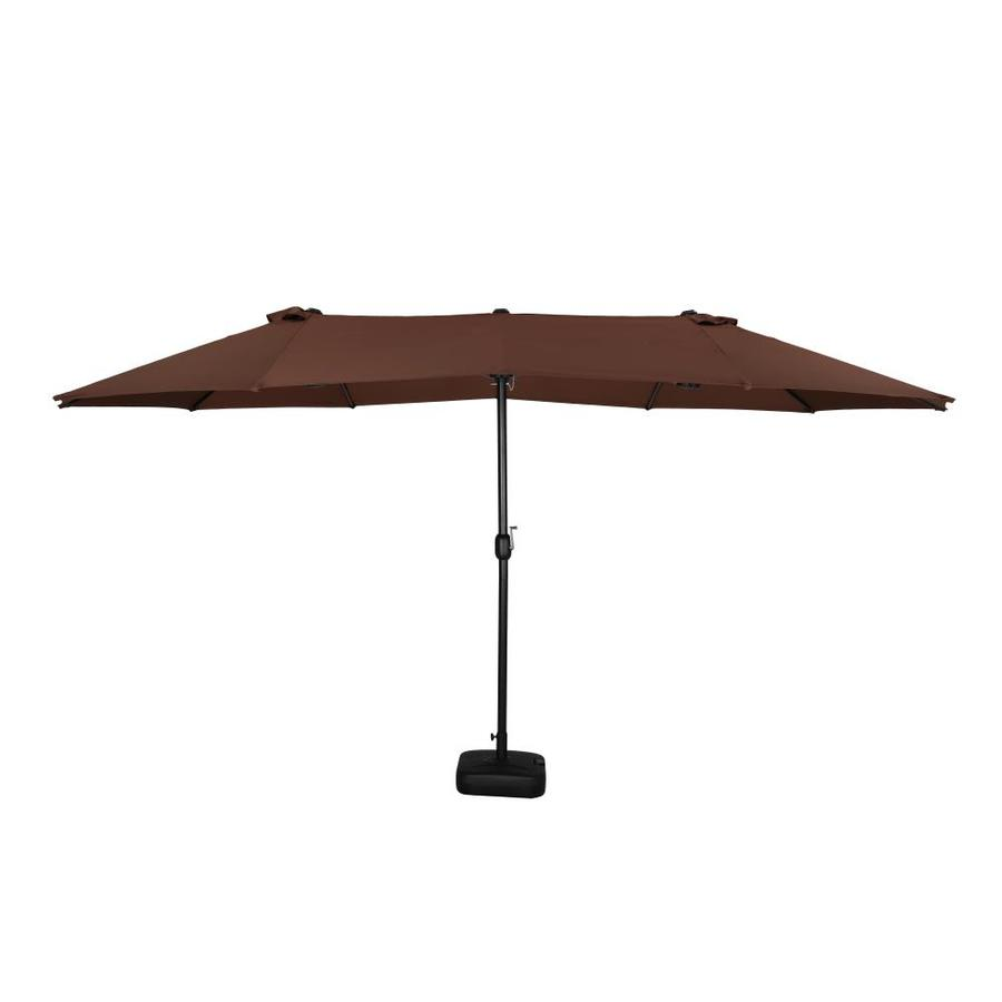 https www lowes com pd top home space top home space 15x9ft double sided patio market umbrella large outdoor umbrella with crank for garden market swimming pool backyard without umbrella base brown 5001586569