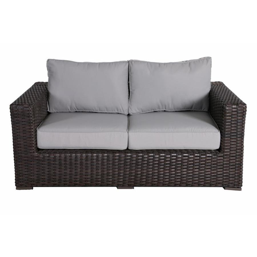 https www lowes com pd teva furniture santa monica outdoor patio love seat with sunbrella cushions tan 5001592661