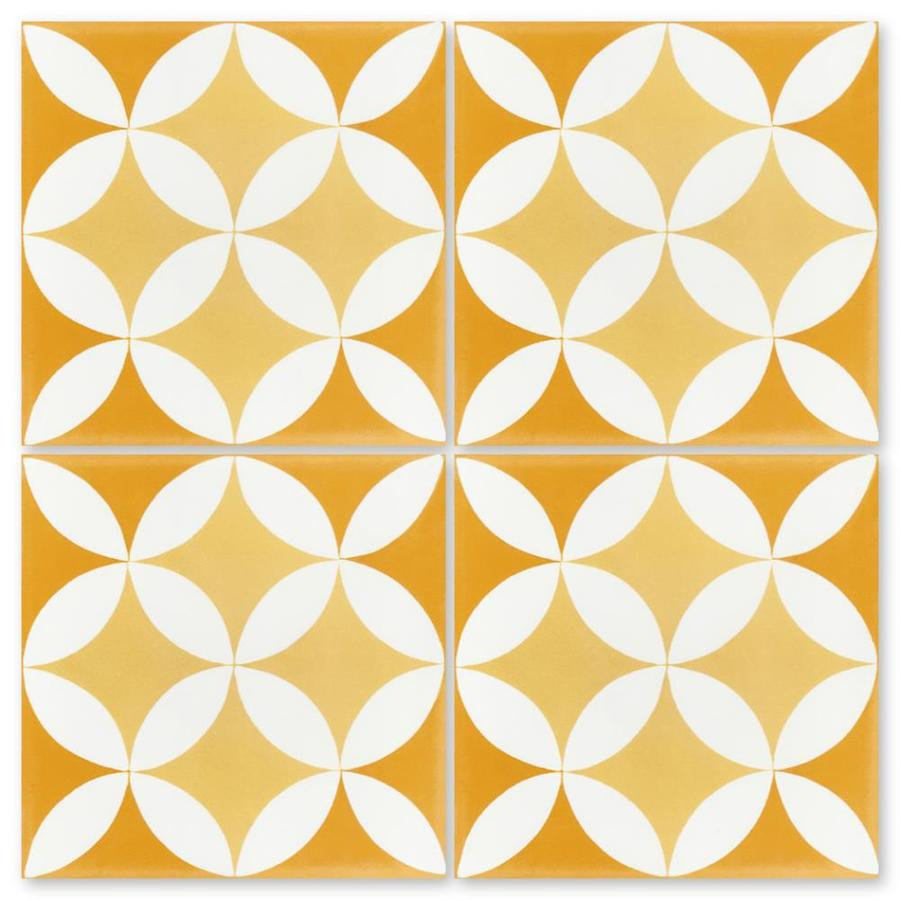 villa lagoon tile circulos a maple sugar 16 pack 8 in x 8 in unglazed cement patterned floor and wall tile