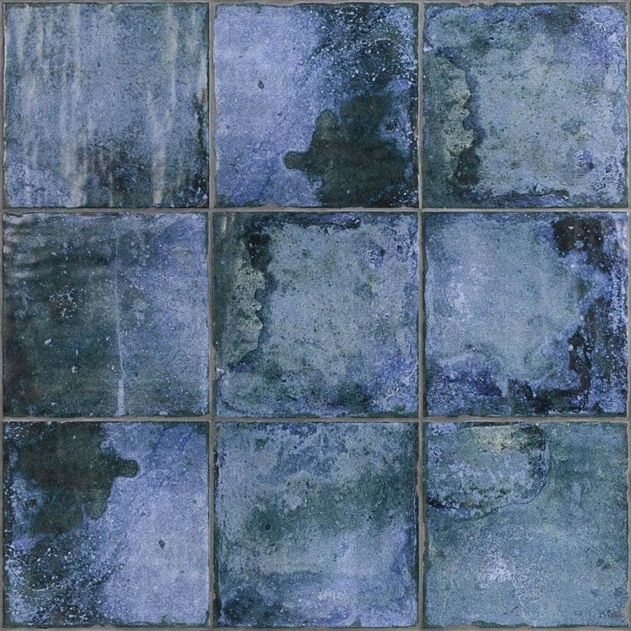 artmore tile haven 25 pack blue 8 in x 8 in matte ceramic stone look floor and wall tile