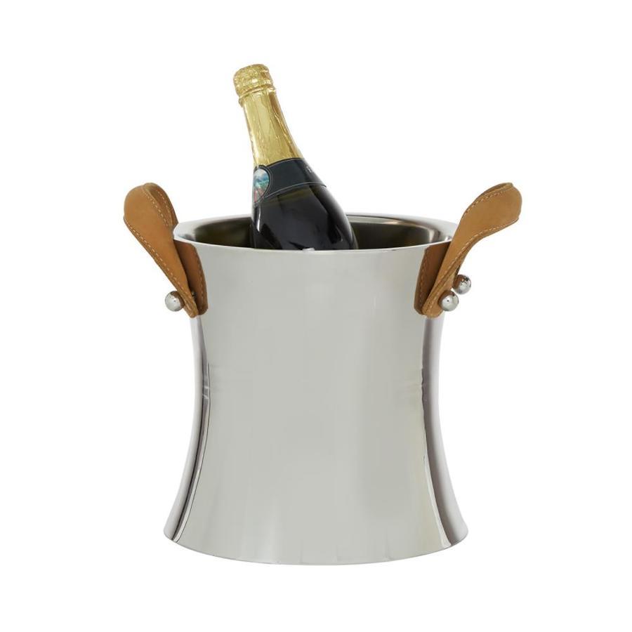 grayson lane 1 bottle silver stainless steel wine rack