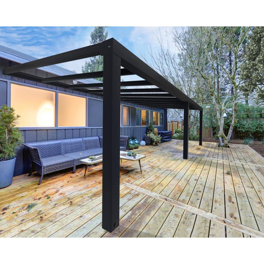 24 ft gray clear aluminum patio cover