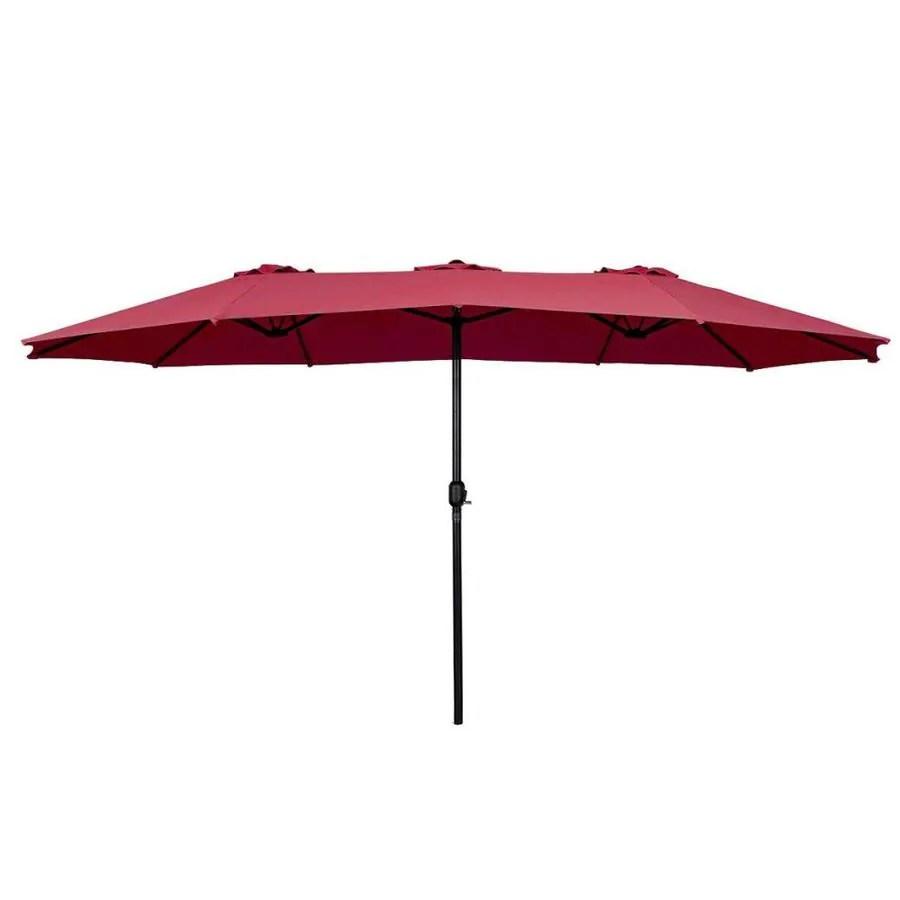 clihome 15 ft 180g polyester fabric market patio umbrella