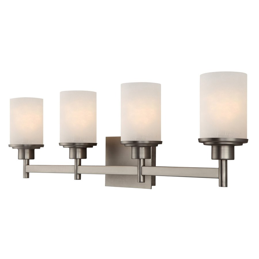 Shop Canarm Lyndi 4 Light 30 In Brushed Nickel Cylinder