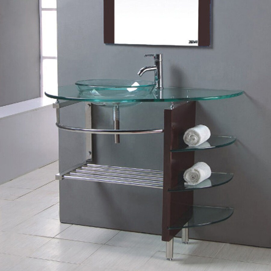 kokols usa clear single sink vanity