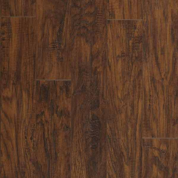 Shop Laminate Flooring at Lowes com Pergo MAX Manor Hickory 5 23 in W x 3 93 ft L Handscraped Wood Plank