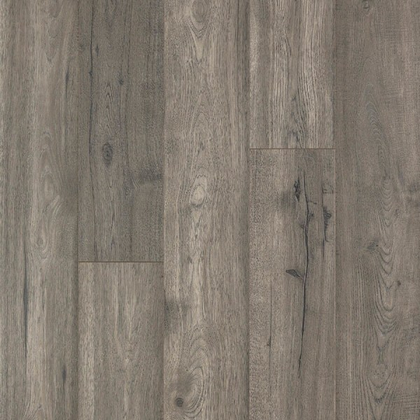 Shop Laminate Flooring at Lowes com Pergo MAX Premier Silver Mist Oak 7 48 in W x 4 52 ft L Embossed