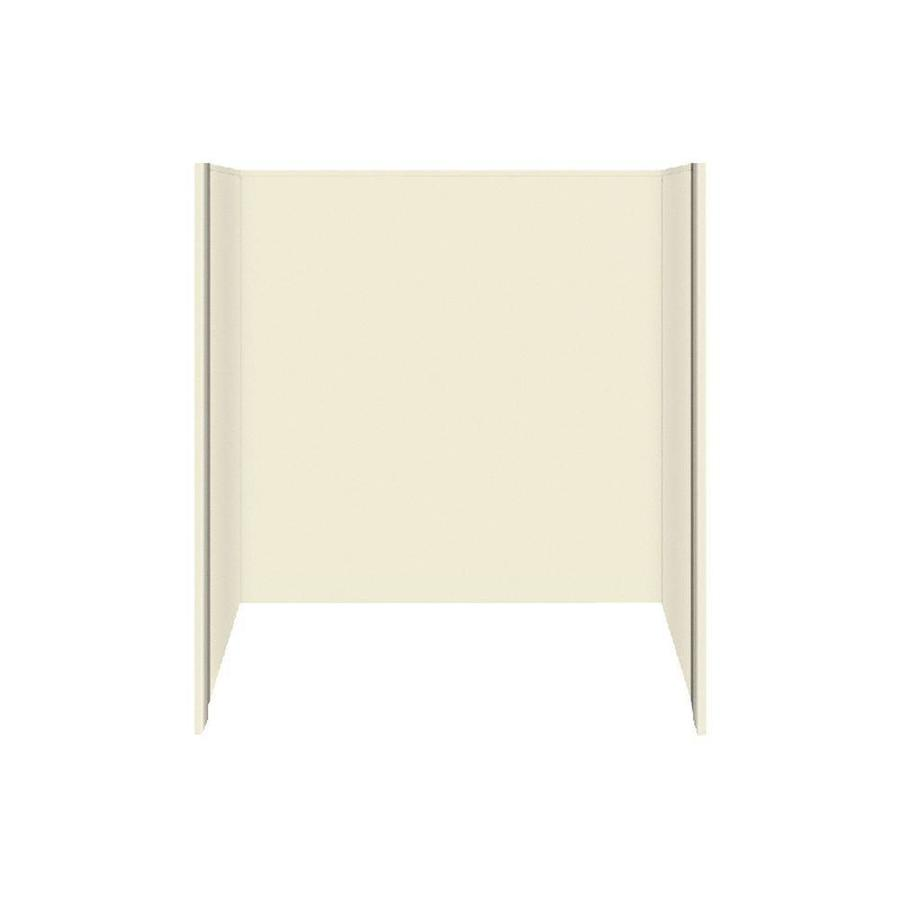 Shop Style Selections Biscuit Solid Surface Bathtub Wall