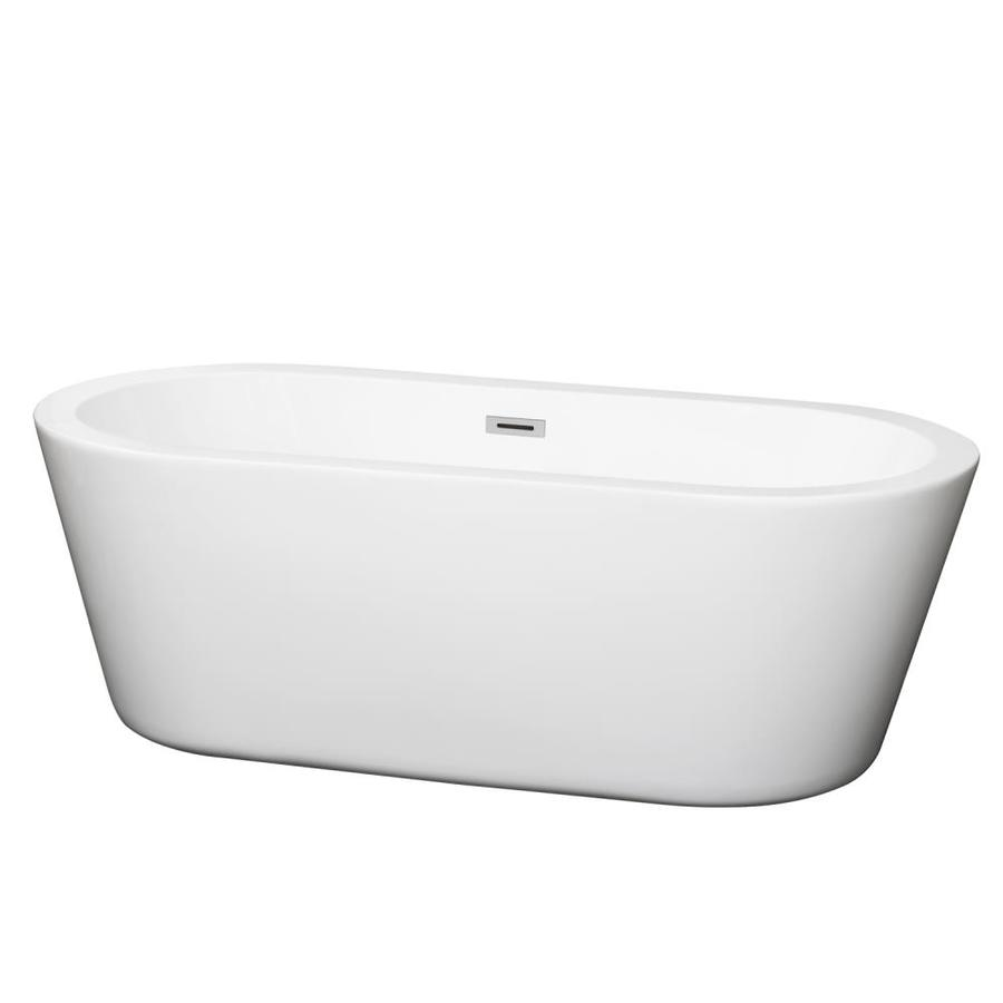 Shop Wyndham Collection Mermaid 67 In White With Polished