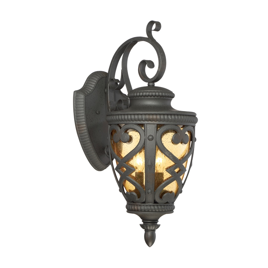 allen roth grandura 22 63 in h black iron candelabra base e 12 outdoor wall light in the outdoor wall lights department at lowes com