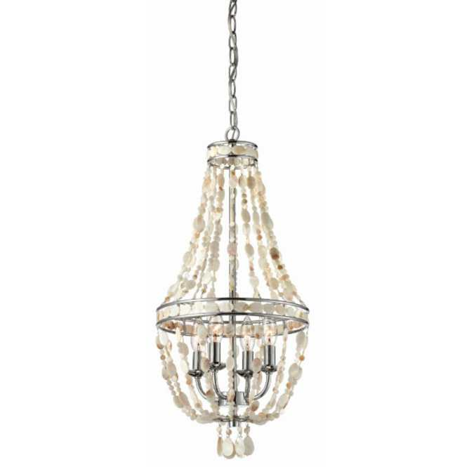 Style Selections 12 In 4 Light Polished Chrome Standard Chandelier