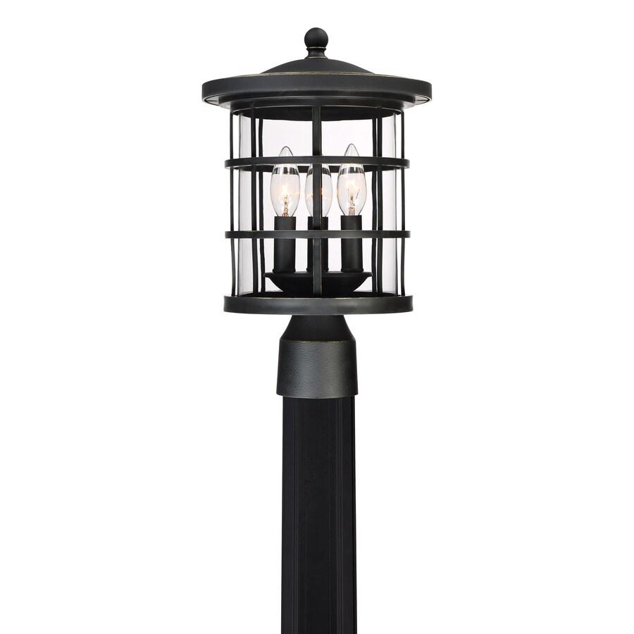 quoizel asheville 60 watt 15 in bronze traditional post light