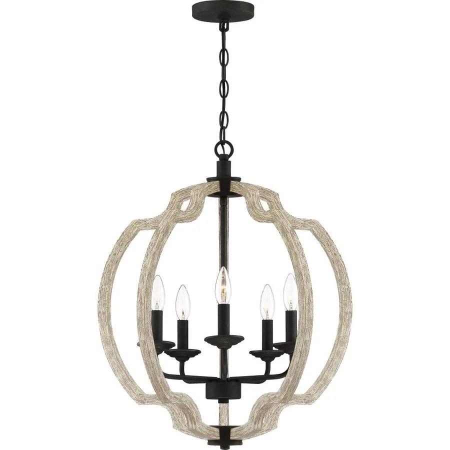 quoizel castleton weathered black with faux light distressed wood farmhouse geometric pendant light